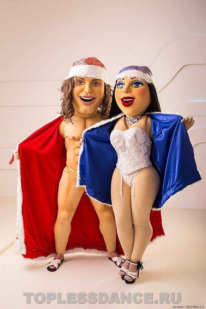 Ростовые куклы Матильда и Артур